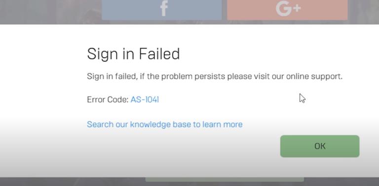 Как исправить код ошибки Fortnite: AS-1041