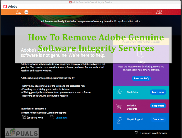Как удалить Adobe Genuine Software Integrity Services