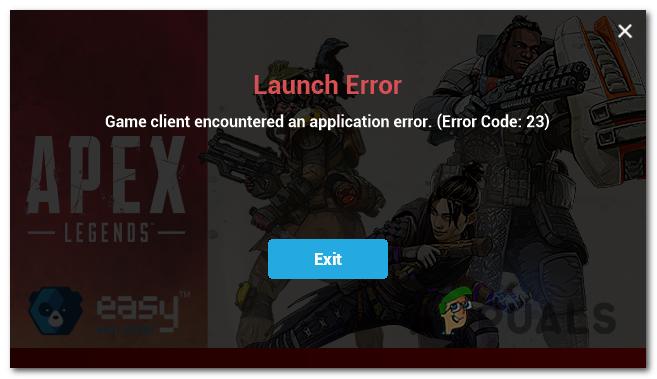 Исправить код ошибки 23 в Apex Legends в Windows 10