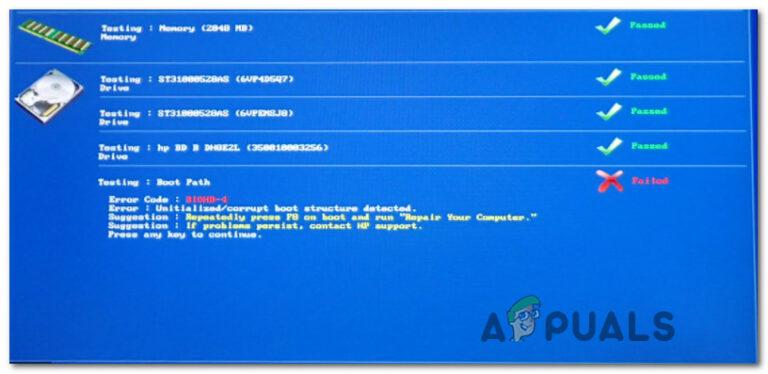 Как исправить код ошибки BIOHD-4 на компьютере HP