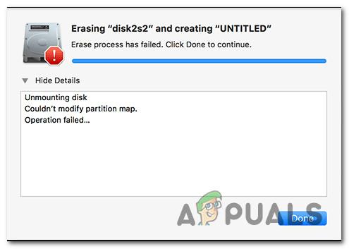Как исправить ошибку «Не удалось изменить карту разделов» в macOS