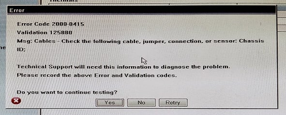Исправление кода ошибки 2000-0415 на компьютерах DELL