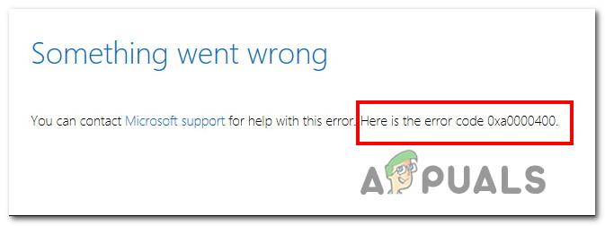Как исправить ошибку Windows 10 0xA0000400