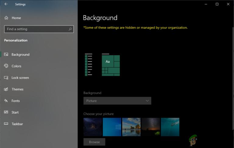 Как запретить другим пользователям изменять фон в вашей Windows 10?