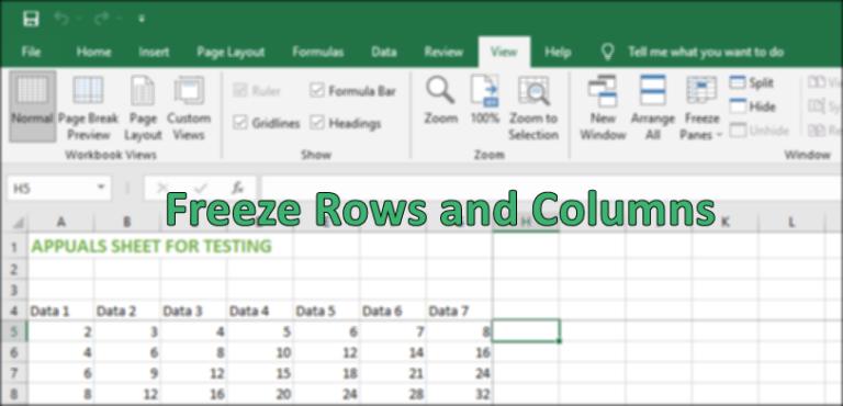 Как закрепить строку и столбец в Microsoft Excel