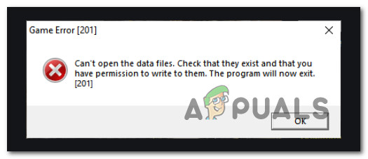 Ошибка игры LOTRO [201] Не удается открыть файлы данных «Решено»