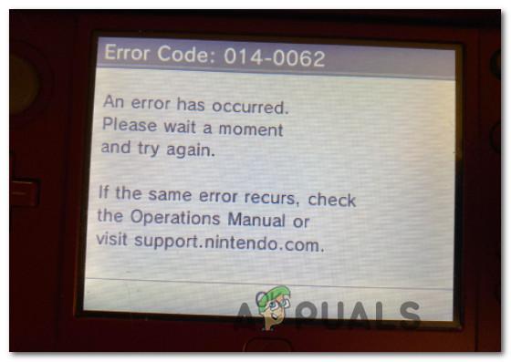 Устранение неполадок с кодом ошибки Nintendo 014-0062