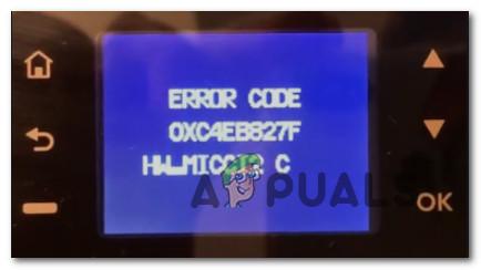Исправить ошибку принтера HP OXC4EB827F (Устранение неполадок)