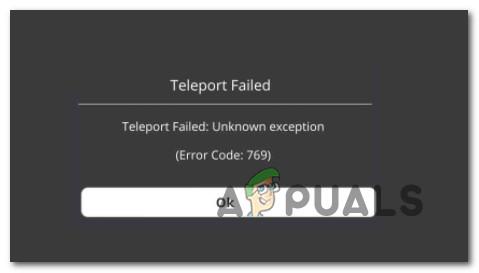 Исправить сбой телепорта: неизвестная ошибка исключения 769 в Roblox
