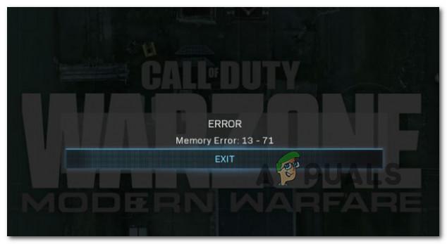 Устранение ошибки памяти 13-71 в COD: Warzone (ПК, Xbox)