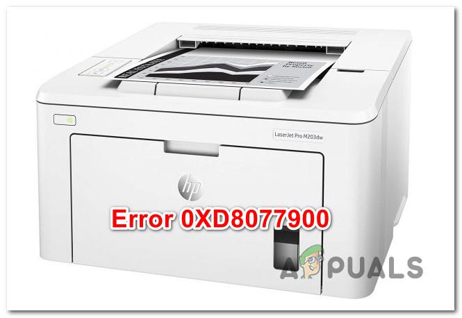 Исправить принтер HP, отображающий ошибку 0XD8077900