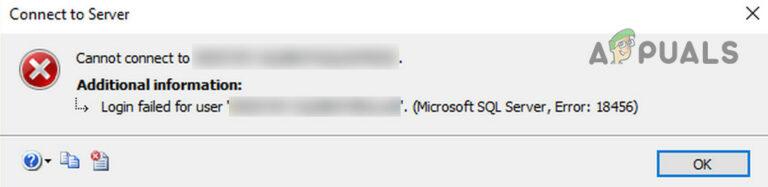 Как исправить ошибку входа в систему Microsoft SQL Server: 18456