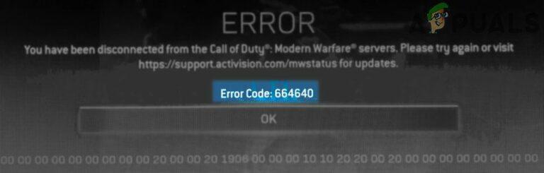 Call of Duty Warzone и Modern Warfare: код ошибки 664640 (исправление)