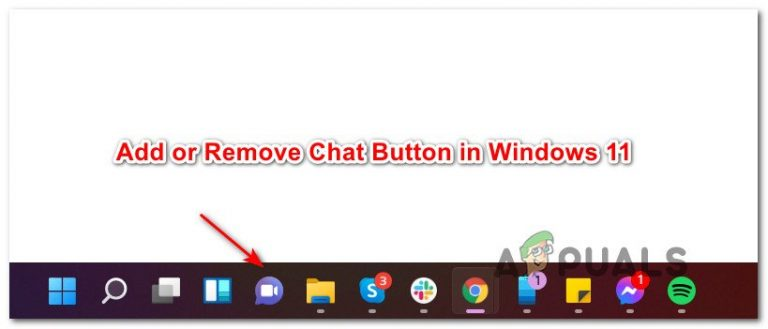 Добавить или удалить кнопку чата на панели задач в Windows 11