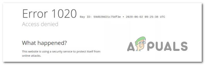 CloudFlare Error 1020 Доступ запрещен: что это такое и как его исправить?