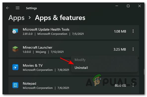 Как удалить установленные программы в Windows 11