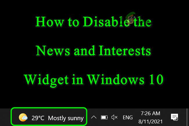 Как удалить погоду и новости с панели задач в Windows 10?