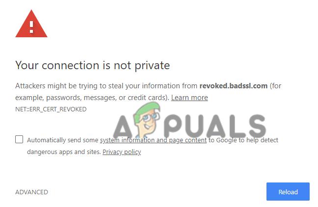 Как исправить ошибку «NET ERR_CERT_REVOKED» в Google Chrome?
