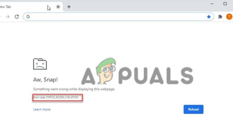 Как исправить ошибку «Aw, Snap! STATUS_ACCESS_VIOLATION» в Chrome и Edge