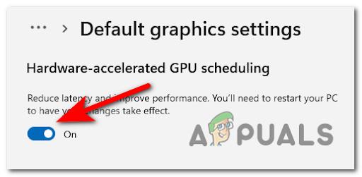Как отключить ускоренное планирование графического процессора в Windows 11