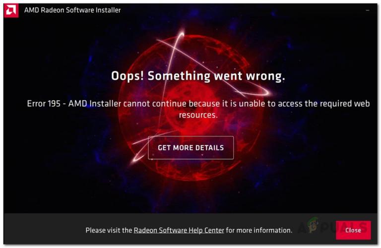 Установщик AMD показывает ошибку 195 (К сожалению, что-то пошло не так)?  Вот как это исправить