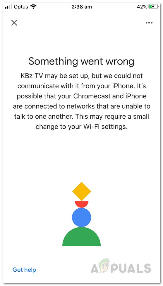 """Ошибка Chromecast """"Что-то пошло не так""""?  Попробуйте эти исправления"""