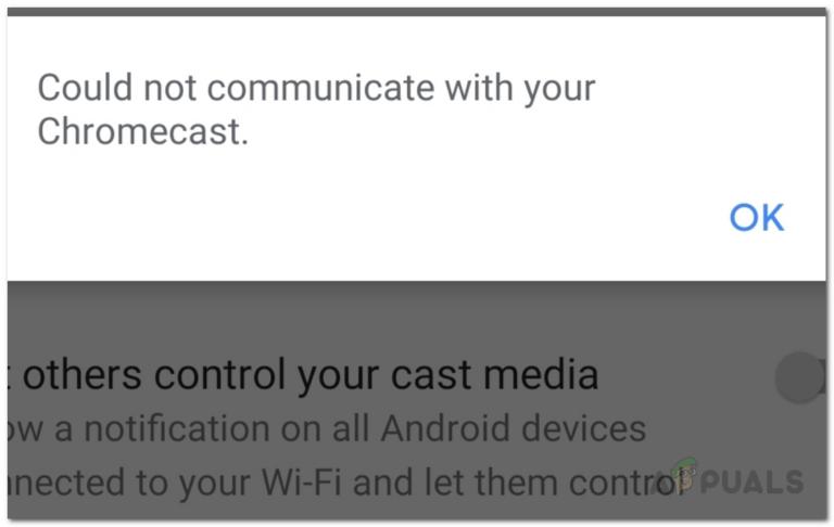 Как исправить ошибку, не могу связаться с вашим Chromecast на Android?