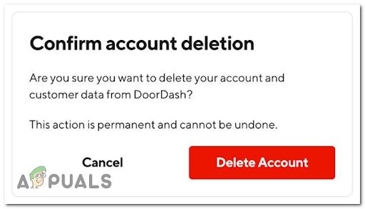 Как удалить учетную запись DoorDash?