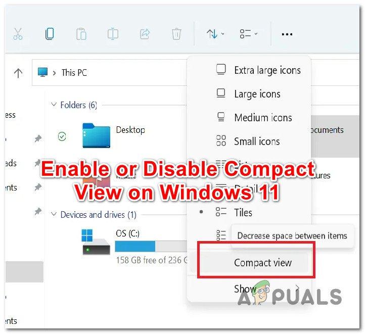 Как включить или отключить компактный просмотр в проводнике в Windows 11