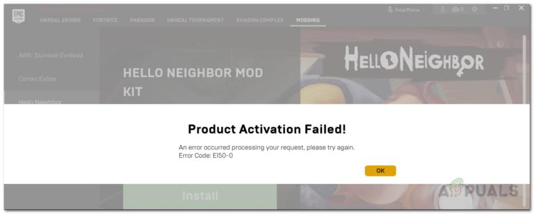 Ошибка магазина Epic Games «Ошибка активации продукта»?  Вот как это исправить