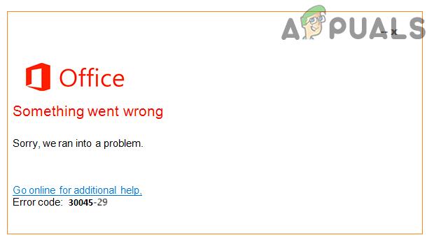 Как исправить ошибку «Код ошибки: 30045-29» в Microsoft Office?