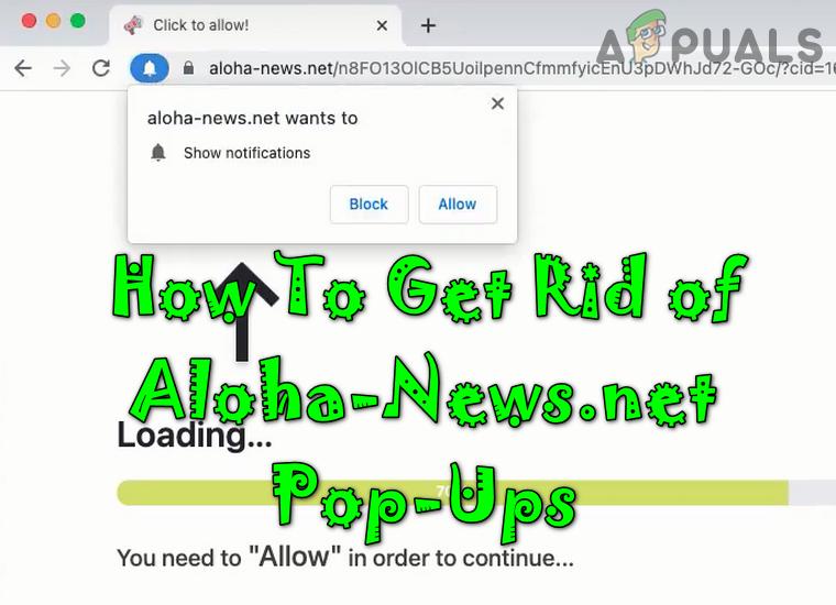 Как избавиться от всплывающих окон Aloha-News.net при просмотре?