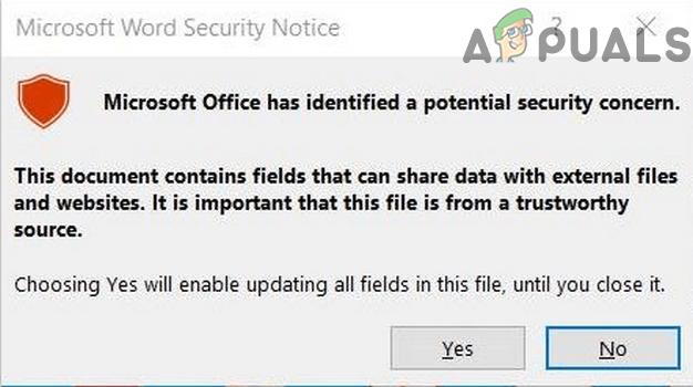 Как отключить всплывающее окно с уведомлением о безопасности Microsoft Word?