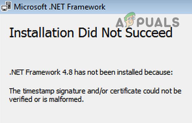 Исправлено: подпись и / или сертификат с отметкой времени не могут быть проверены или имеют неверный формат.