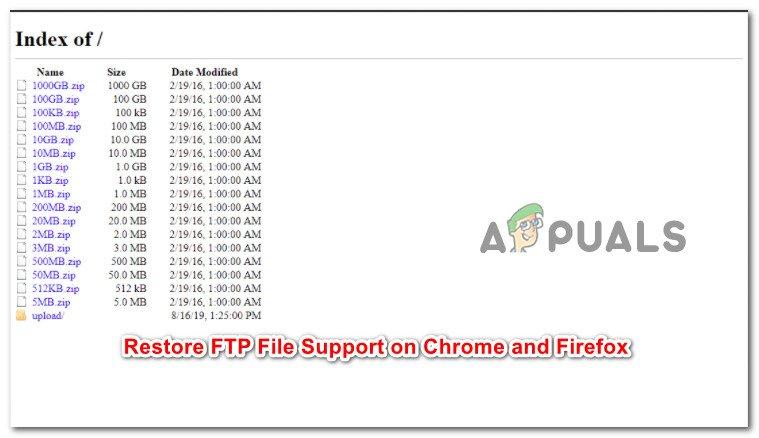Как восстановить параметр «Сохранить ссылку как» для файлов FTP в Chrome и Firefox