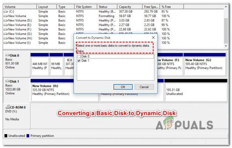 Как преобразовать базовый диск в динамический в Windows?