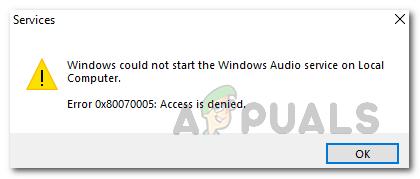 Как исправить Windows не может запустить звуковую службу Windows на локальном компьютере?